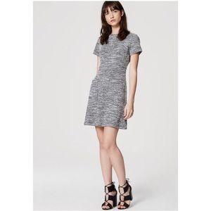 LOFT Ann Taylor tweed pocket dress small